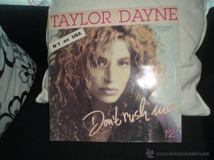 TAYLOR DAYNE-DON´T RUSH ME (Música - Discos de Vinilo - Maxi Singles - Pop - Rock - New Wave Internacional de los 80)