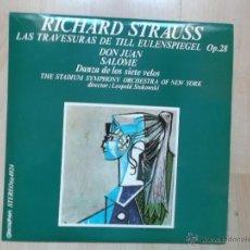 Discos de vinilo: RICHARD STRAUSS THE STADIUM SYMPHONY ORCHESTRA OF NEW YORK. Lote 46056066