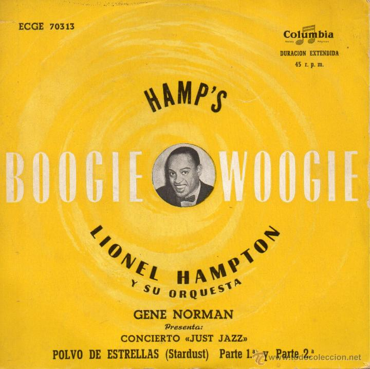 LIONEL HAMPTON Y SU ORQUESTA, EP, STARDUST (POLVO DE ESTRELLAS) PARTE 1ª + PARTE 2ª, AÑO 1959 (Música - Discos de Vinilo - EPs - Jazz, Jazz-Rock, Blues y R&B)