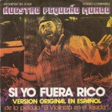 Discos de vinilo: VENDO SINGLE DE LA BANDA SONORA DE LA PELICULA EL VIOLINISTA EN EL TEJADO. ORIGINAL EN ESPAÑOL.. Lote 46065654