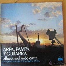 Discos de vinilo: ARPA,PAMPA Y GUITARRA- ALFREDO ROLANDO ORTIZ Y LA GUITARRA DE HECTOR ALVAREZ MEJIA. Lote 46069475