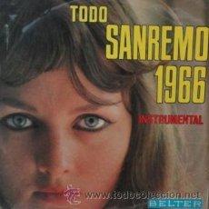 Disques de vinyle: TODO SANREMO 1966 - ISTRUMENTAL LP BELTER DE 1966 RF-2176 . Lote 46069943