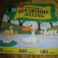 Discos de vinilo: WALT DISNEY´S DEN GRIMME AELLING (EL PATITO FEO). DISCO LIBRO EDICION DANESA 1972. Lote 46079801