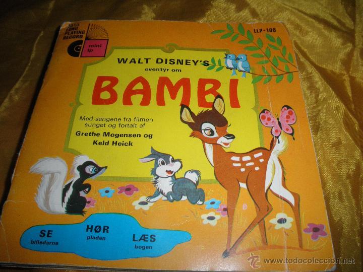 WALT DISNEY´S. BAMBI . DISNEYLAND 1970. EDICION DANESA. DISCO LIBRO (Música - Discos - Singles Vinilo - Música Infantil)