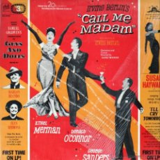 Discos de vinil: CALL ME MADAM. GUYS & DOLLS.I´LL CRY TOMORROW. BSO.LP. Lote 46081561