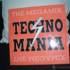 Discos de vinilo: TECHNO MANIA-THE MEGAMIX. Lote 46089414
