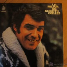 Disques de vinyle: LO MEJOR DE ALBERTO CORTEZ- HISPAVOX 1973. Lote 46102119