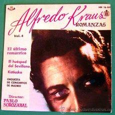 Discos de vinilo: ALFREDO KRAUS . EP-SINGLE . ROMANZAS . HISPAVOX 1959. Lote 46102275