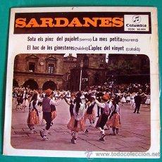 Discos de vinilo: SARDANAS/SARDANES . COBLA BARCELONA . EP-SINGLE - SOTA ELS PINS DEL PUJOLET . COLUMBIA 1965. Lote 46102713