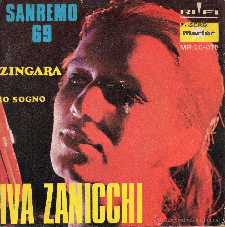Discos de vinilo: IVA ZANICCHI - FESTIVAL SAN REMO, SG, ZINGARA + 1, AÑO 1969 - Foto 2 - 46108395