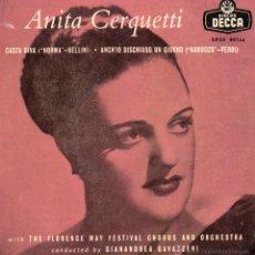 Discos de vinilo: ANITA CERQUETTI, EP, CASTA DIVA + 1, AÑO 1959. Lote 46109355