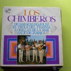 Discos de vinilo: LOS CHIMBEROS EP DE BARACALDO¡JOLIN! ESPAÑA 1969. Lote 46115840