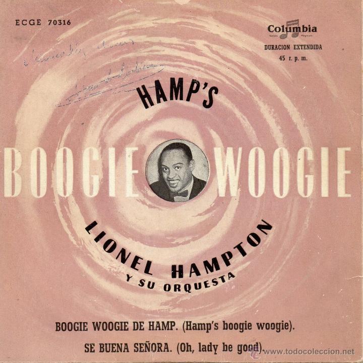 LIONEL HAMPTON Y SU ORQUESTA, EP, HAMP´S BOOGIE WOOGIE + 1, AÑO 1959 (Música - Discos de Vinilo - EPs - Jazz, Jazz-Rock, Blues y R&B)