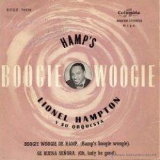 Discos de vinilo: LIONEL HAMPTON Y SU ORQUESTA, EP, HAMP´S BOOGIE WOOGIE + 1, AÑO 1959. Lote 46116169