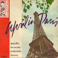 Discos de vinilo: APRIL EN PARIS - TRIO LES PETITS CHAUX, EP, THERE WAS A TIME + 3, AÑO 1959. Lote 46116264