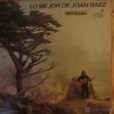Discos de vinilo: LO MEJOR DE JOAN BAEZ- HISPAVOX- 1965. Lote 46116761