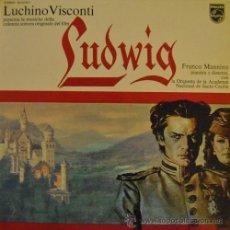 Discos de vinilo: LUDWIG - BANDA SONORA ORIGINAL DE LA PELICULA - LP ESPAÑOL DE VINILO FRANCO MANINO. Lote 46117010
