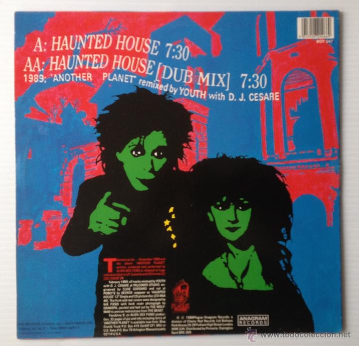 Discos de vinilo: ALIEN SEX FIEND. HAUNTED HOUSE. ANAGRAM RECORDS, 1989. MINI LP. - Foto 2 - 46119946
