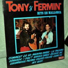 Discos de vinilo: TONY Y FERMIN - LP VINILO 12'' - AUTOGRAFIADO - EDITADO EN ESPAÑA - 10 TRACKS - MALLER 1983.. Lote 46122358