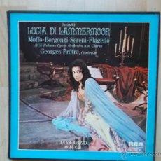 Discos de vinilo: LUCIA DI LAMMERMOOR ANNA MOFFO DONIZETTI CAJA 3LP. Lote 46133745