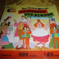 Discos de vinilo: KEJSERENS NYE KLAEDER (EL TRAJE NUEVO DEL EMPERADOR) DISNEYLAND 1972. DISCO LIBRO. EDICION DANESA. Lote 46137863