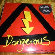 Discos de vinilo: DANGEROUS. DIAMONDS & DOLLARS / GROUPIES LOST HER GRIP. MARQUEE RECORDS. EDICION INGLESA 1990. Lote 46138474