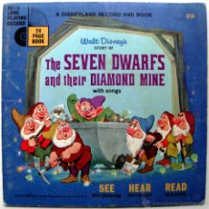 Discos de vinilo: WALT DISNEY - THE SEVEN DWARFS AND THEIR DIAMOND MINE - EP LIBRO 24 PÁGINAS DISNEYLAND 1967 USA BPY. Lote 46139053