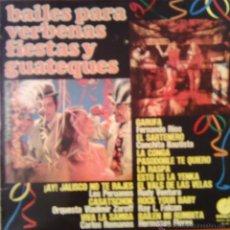 Discos de vinilo: BAILES PARA VERBENAS FIESTAS Y GUATEQUES 1975 IMPACTO EL-117. Lote 46141919