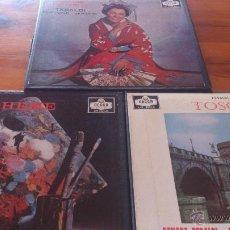 Discos de vinilo: 3 CAJAS DISCOS PUCCINI. Lote 46151211