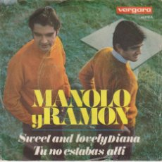 Discos de vinil: MANOLO Y RAMON ( DUO DINAMICO ) - SWEET AND LOVELY DIANA + 1 - SG SPAIN 1968 VG+ / VG++. Lote 46151502