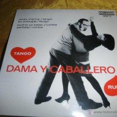 Discos de vinilo: DAMA Y CABALLERO. MUSICA PARA BAILAR. TANGO- RUMBA. MAX GREGER ORQUESTA. EP. ORLADOR 1965.IMPECABLE. Lote 46156588