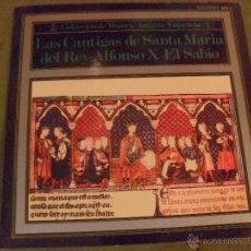 Discos de vinilo: LAS CANTIGAS DE SANTA MARIA DEL REY ALFONSO EL SABIO. HISPAVOX- ERATO 1968. Lote 46161714