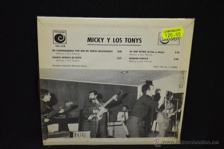 Discos de vinilo: MICKY Y LOS TONYS - NO COMPRENDEMOS PORQUE SOMOS MILLONARIOS + 3 - EP - Foto 2 - 46163409