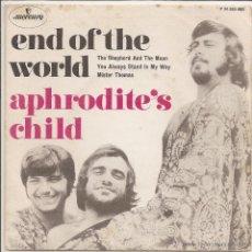 Discos de vinilo: APHRODITE'S CHILD - END OF THE WORLD (SOLO PORTADA). Lote 46164487