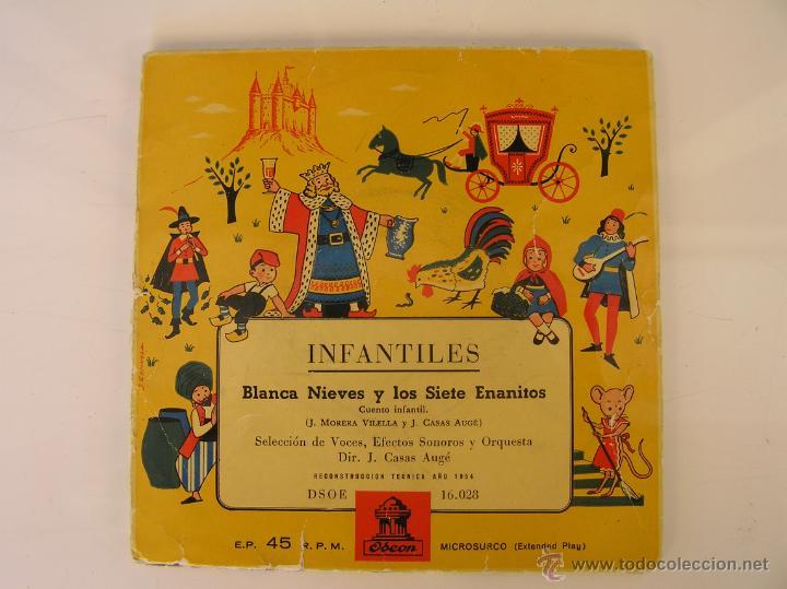 INFANTILES - BLANCA NIEVES Y LOS SIETE ENANITOS - IBL - (Música - Discos de Vinilo - EPs - Música Infantil)