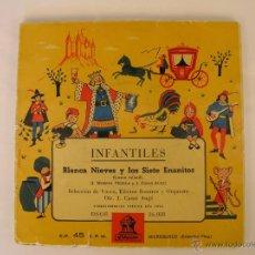 Discos de vinilo: INFANTILES - BLANCA NIEVES Y LOS SIETE ENANITOS - IBL -. Lote 46169307