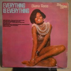 Discos de vinilo: DIANA ROSS. EVERYTHING IS EVERYTHING. MOTOWN 1973. LITERACOMIC.. Lote 46170690