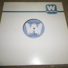 Discos de vinilo: MIGUEL BOSE SERENO REMIXES WALLY LOPEZ & DR. KUCHO MAXI SINGLE VINILO 2002 CONTIENE 2 TEMAS. Lote 46174287