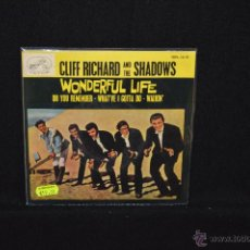 Discos de vinilo: CLIFF RICHARD AND THE SHADOWS - WONDERFUL LIFE + 3 - EP. Lote 46174584