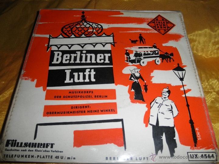 BERLINER LUFT. EP. TELEFUNKEN EDICION ALEMANA (Música - Discos de Vinilo - EPs - Étnicas y Músicas del Mundo)