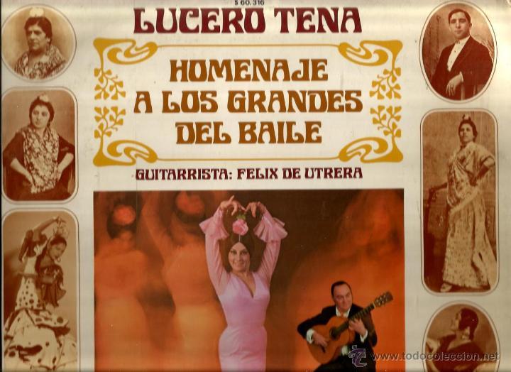 LP LUCERO TENA : HOMENAJE A CARMEN AMAYA, LA MACARRONA, LA GAMBA, LA MALENA, LA ARGENTINITA, ETC (Música - Discos - LP Vinilo - Flamenco, Canción española y Cuplé)