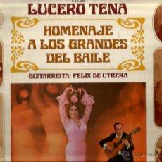 Discos de vinilo: LP LUCERO TENA : HOMENAJE A CARMEN AMAYA, LA MACARRONA, LA GAMBA, LA MALENA, LA ARGENTINITA, ETC . Lote 46178532