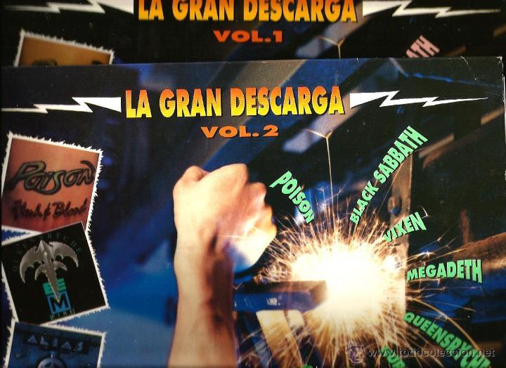 LA GRAN DESCARGA VOL. 1 & 2: POISON + BLACK SABBATH + VIXEN + MEGADETH + QUEENSRYCHE STRYPER ALIAS (Música - Discos - LP Vinilo - Heavy - Metal)