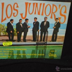 Discos de vinilo: LOS JUNIOR'S - LA CANCION FRANCESA + 3 - EP. Lote 46180509