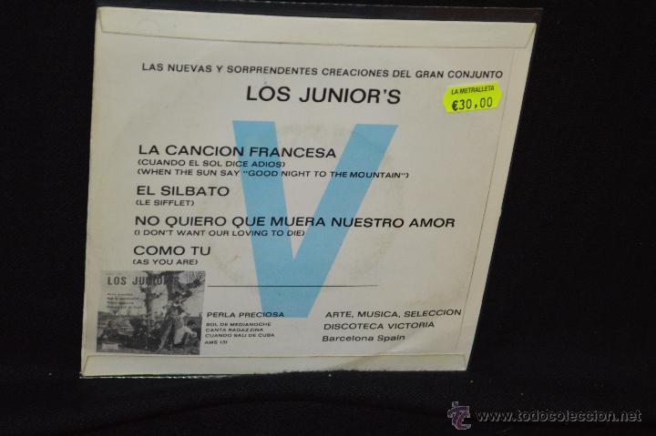 Discos de vinilo: LOS JUNIORS - LA CANCION FRANCESA + 3 - EP - Foto 2 - 46180509