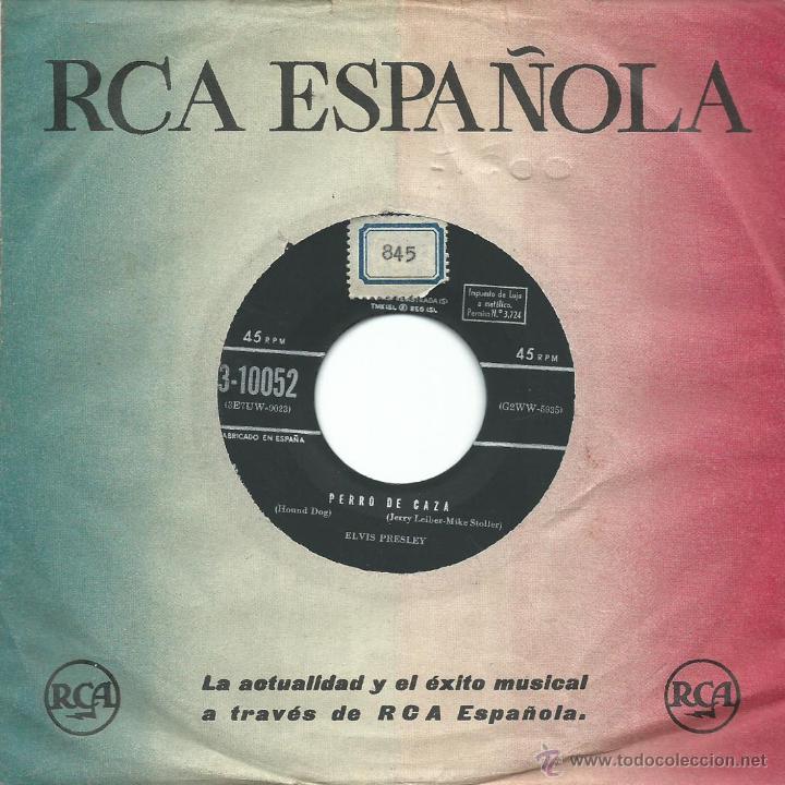 ELVIS PRESLEY - PERRO DE CAZA / NO SEAS CRUEL (45 RPM) PRIMERA EDICION DE 1958! - G/VG (Música - Discos - Singles Vinilo - Rock & Roll)