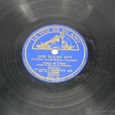 Discos de vinilo: DISCO DE PIZARRA DE GRACIA DE TRIANA, GUITARRA MANOLO DE BADAJOZ, QUÉ BUENA SOY PELÍCULA ESCUADRILLA. Lote 46186938