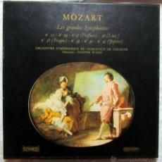 Discos de vinilo: CAJA CON CUATRO DISCOS DE MOZART. LES GRANDES SYMPHONIES. Lote 46196261