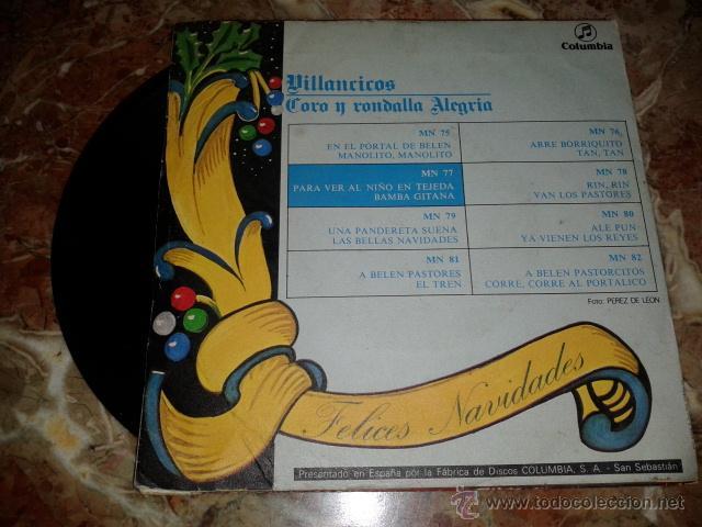 Discos de vinilo: villancicos - coro y ronda alegria - Foto 2 - 46196313