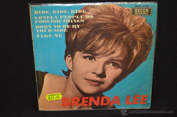 BRENDA LEE - RIDE RIDE RIDE + 3 - EP (Música - Discos de Vinilo - EPs - Pop - Rock Internacional de los 50 y 60)